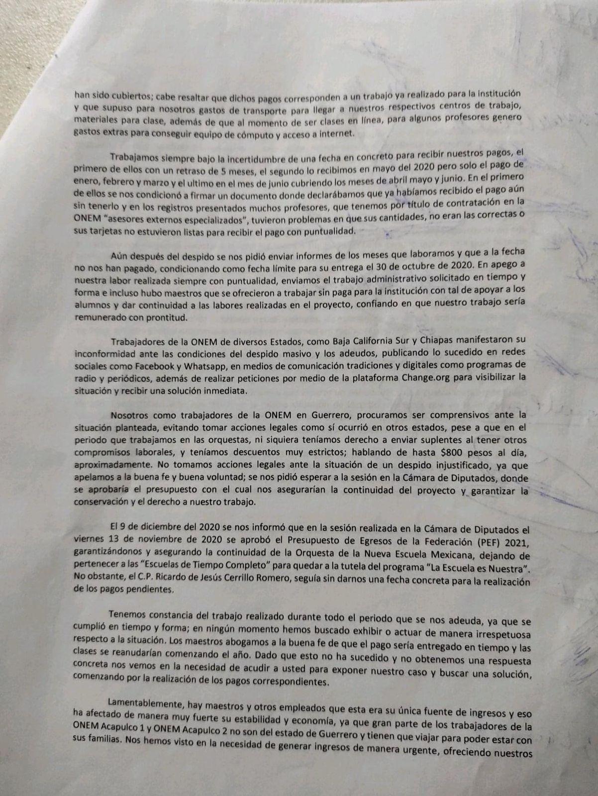 Gobierno de Guerrero también adeuda salarios a ex maestros de la ONEM 2