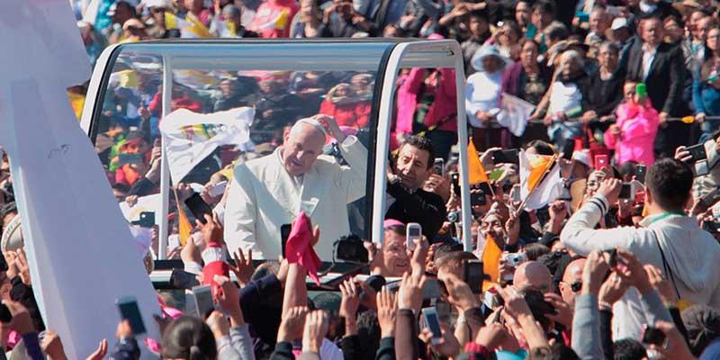 Dos millones de personas fueron a ver al Papa en la CDMX