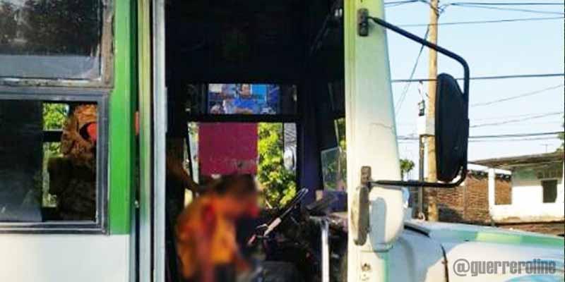 Matan a conductor del transporte público en Acapulco