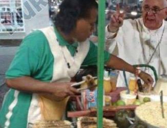 Meme: el Papa ya está comprando sus elotes en Ecatepec 1