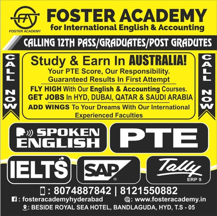 Foster academy spoken english and accounting in chandrayangutta