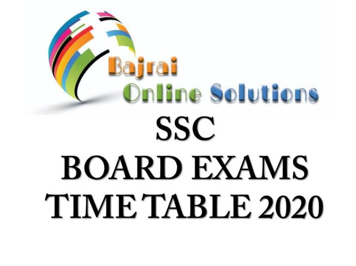 SSC BOARD EXAM TIME TABLE 2020