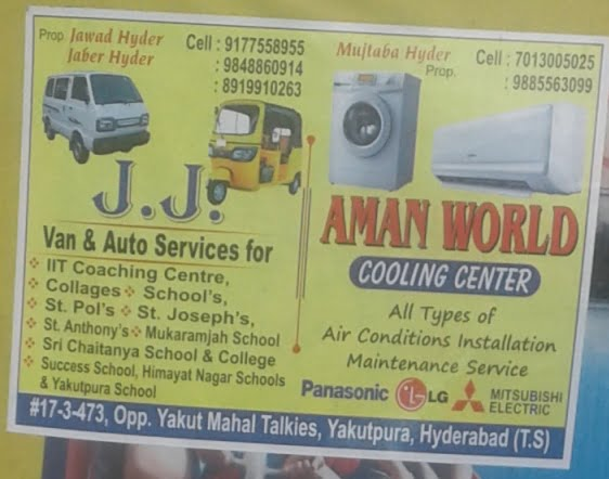 J. J. Van and Auto services Yakutpura hyderabad
