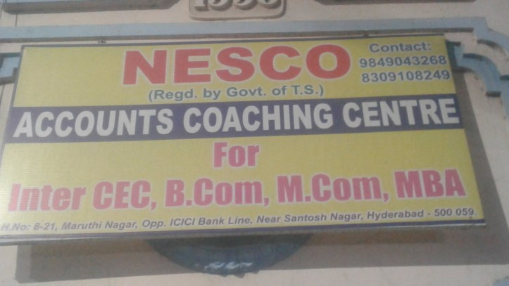 NESCO accounts coaching centre santosh nagar hyderabad accounting centres