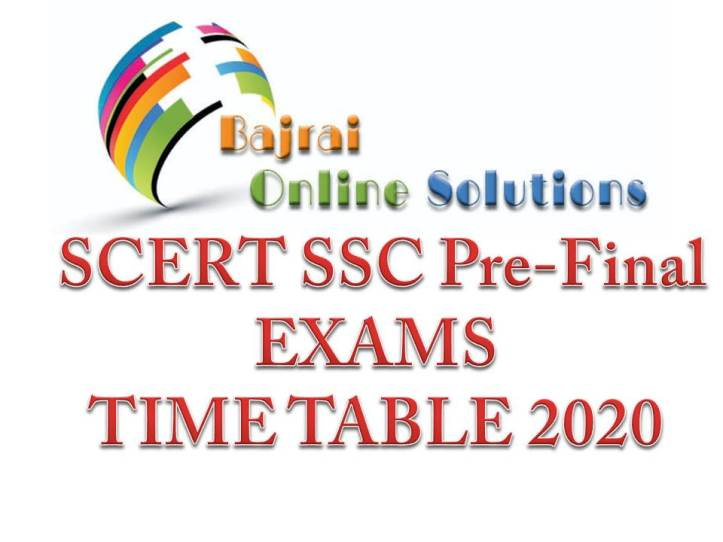 Pre Final Time Table Class X SSC