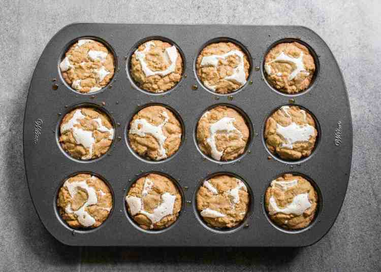 muffin tin of gooey baked s'more cookie cups