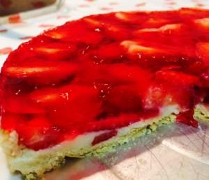 Sobremesas Dia dos Pais - Torta de Morango com Gelatina