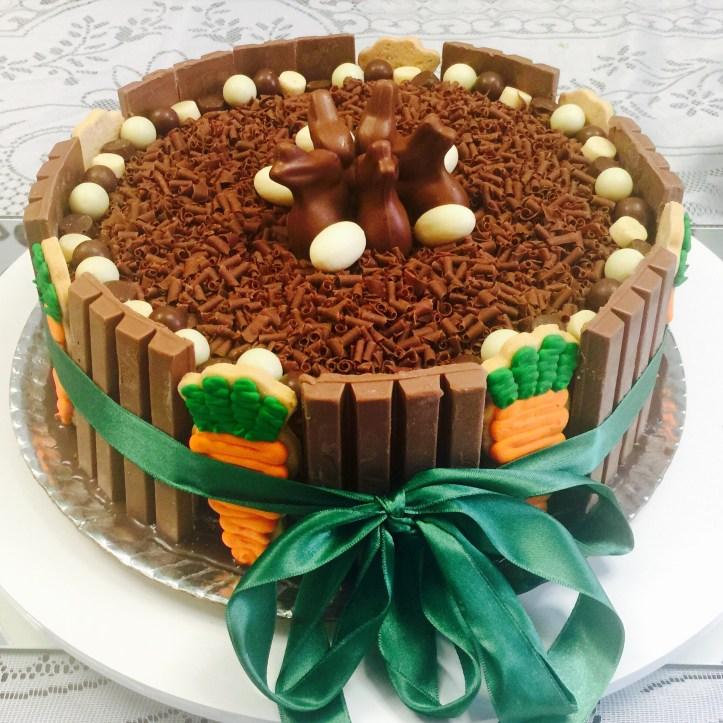 Bolo de Páscoa - Cenoura com Chocolate
