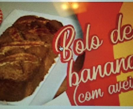 Foto video bolo de banana com aveia