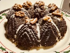 Bolo de Natal com Nozes, sem farinha
