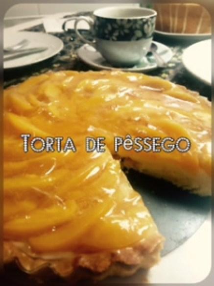 Torta de pêssego perfeita @bakeandcakebr