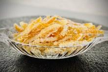 Casca de laranja cristalizada
