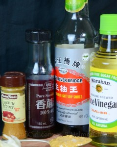 The dressing ingredients