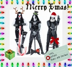 Immortal black metal Christmas