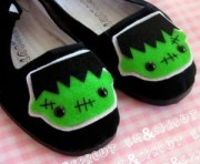 Frankenstein's Monster Mary Janes Em & Sprout Etsy Halloween Shoes