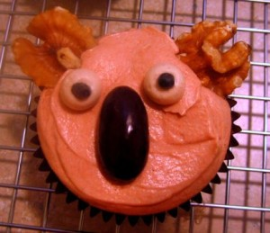 vegan chai koala cupcake