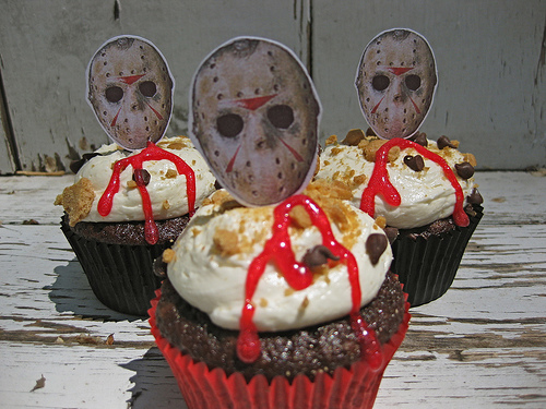 Friday the 13th Slasher Smores Cupcakes