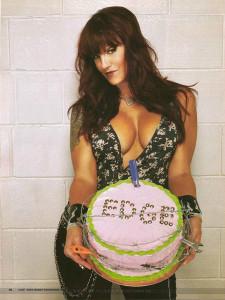 Amy Dumas Lita with cake