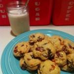 vegan chocolate cherry almond cookies