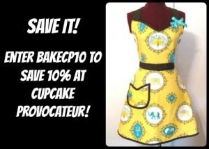 cupcake provocateur apron