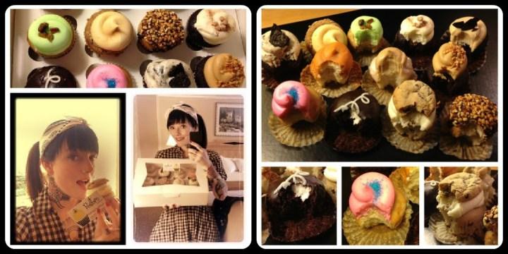 retro bakery cupcakes
