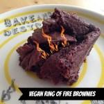 Vegan Ring of Fire Brownies