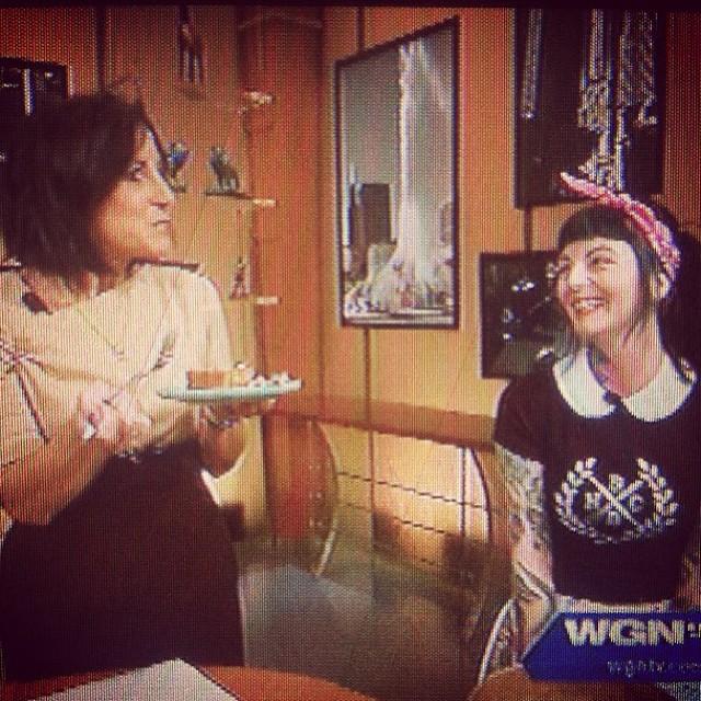 Vegan Chick-O-Cheesecake on WGN Midday Fix