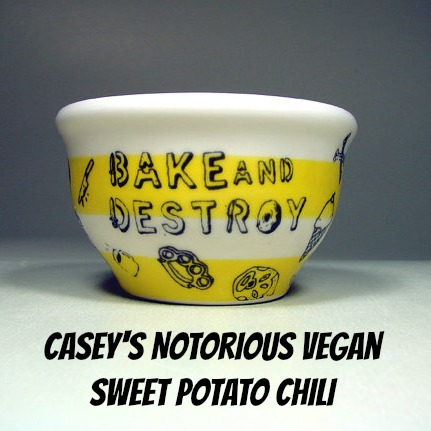 Vegan Super Bowl Snack Party: Sweet Potato Chili