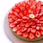 Raw Vegan Strawberry Mint Cacao Cheesecake