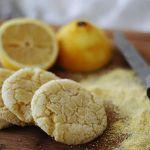 vegan lemon cornmeal cookies