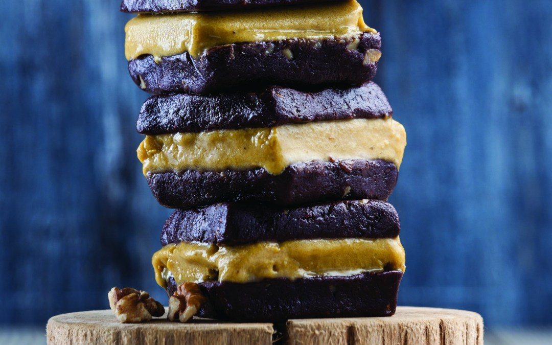 Nourish and Glow: Vegan Golden Milk Ice-cream Brownie Sandwich Recipe