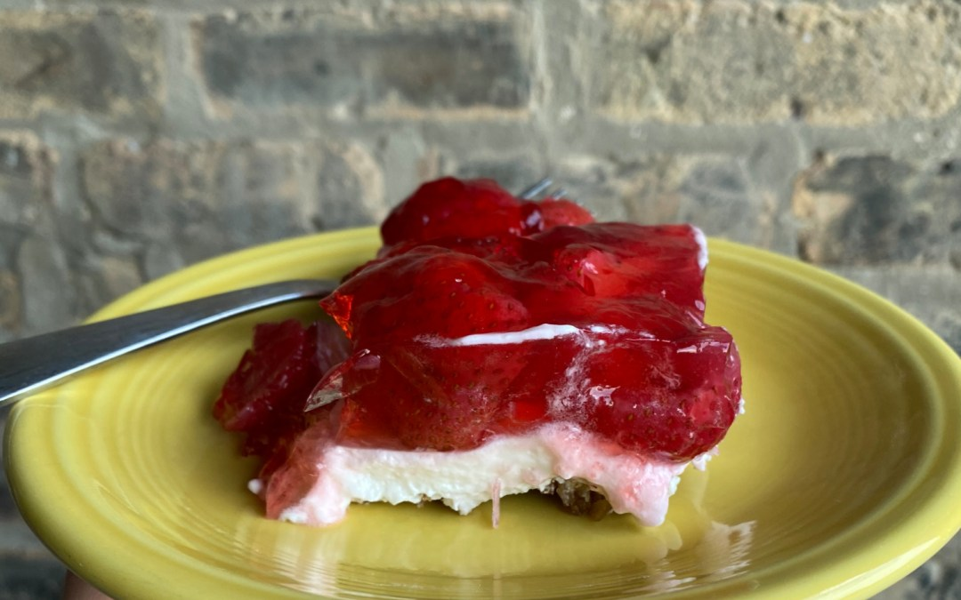Vegan Strawberry Pretzel Salad
