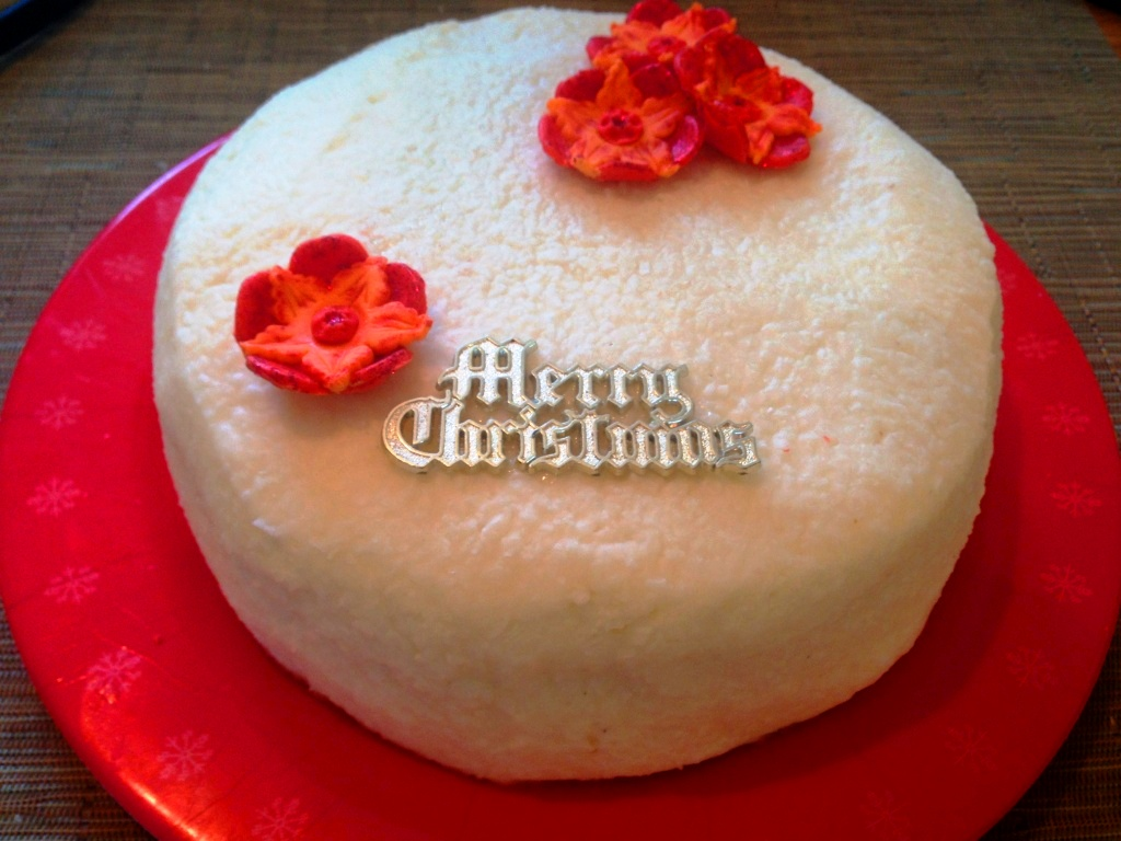Tropical Christmas Cake With Coconut Icing