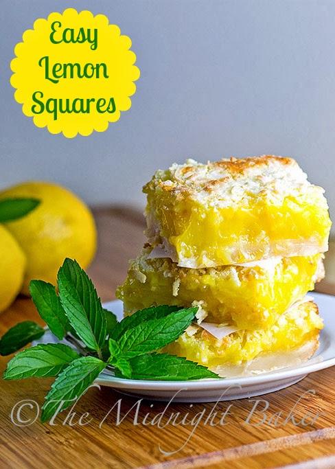Lemon Squares | bakeatmidnite.com | #lemonsquares #desserts #barcookies #lemoncookies