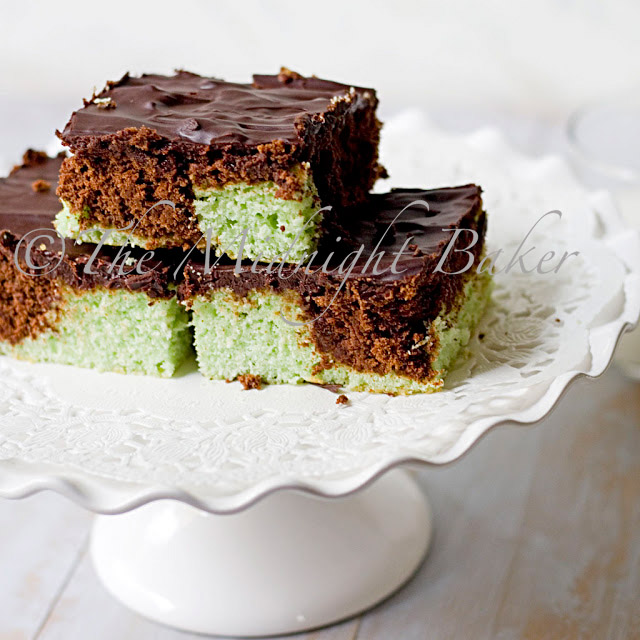 Coco-Mint Marble Brownies