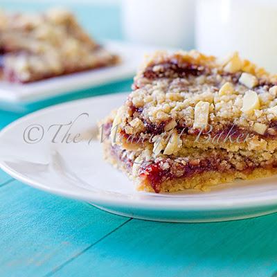 Raspberry Almond Oatmeal Bars