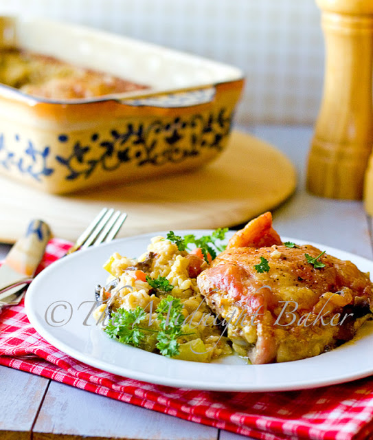 Chicken with Creamy Brown Rice
