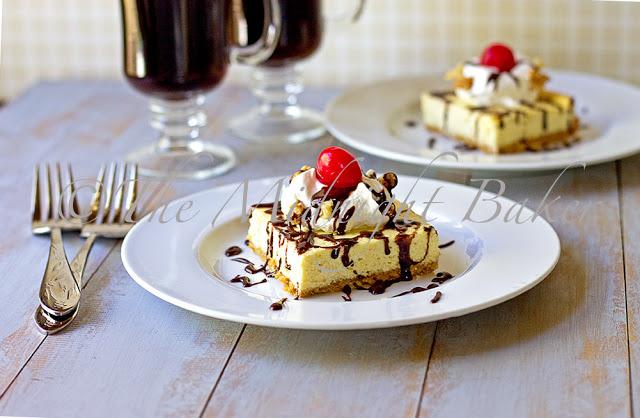Banana Split Cheesecake Bars