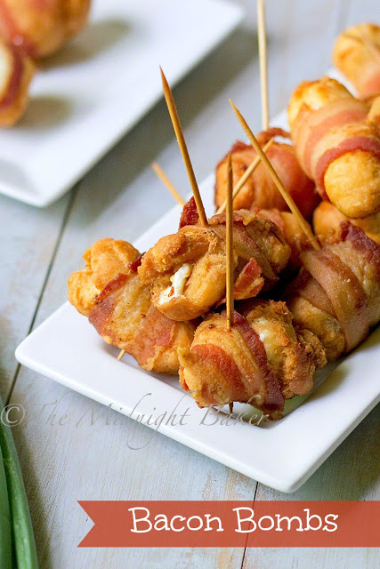 Bacon Bombs | bakeatmidnite.com | #bacon #cheese #appetizers