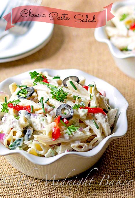 Classic Pasta Salad | bakeatmidnite.com | #PastaSalad #Salads #Pasta