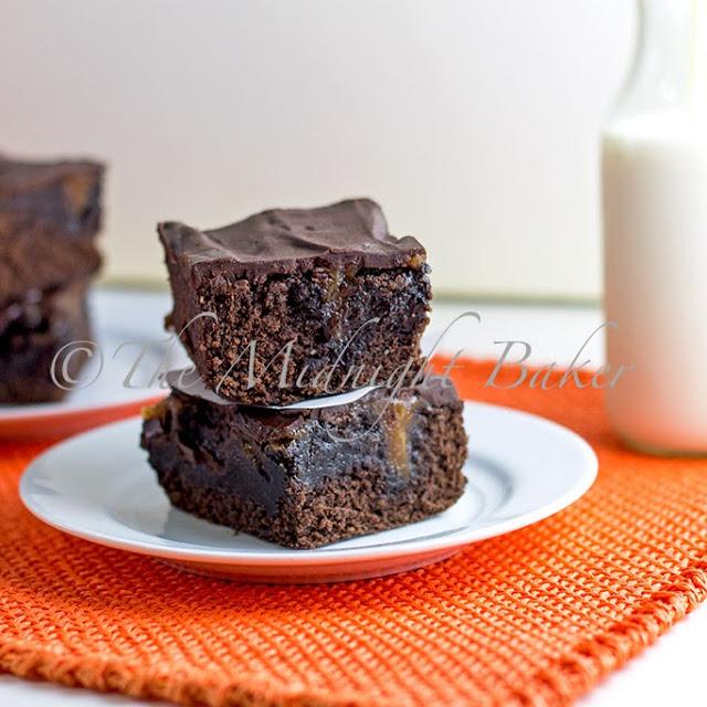 Peanut Butter Poke Brownies