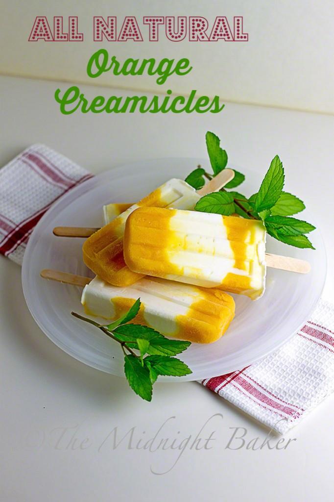 Orange Creamsicles #popsicles #orangecreamsicles