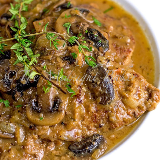 Braised Beef with Onion Mushroom Gravy