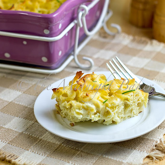 Three Cheese Noodle Pudding