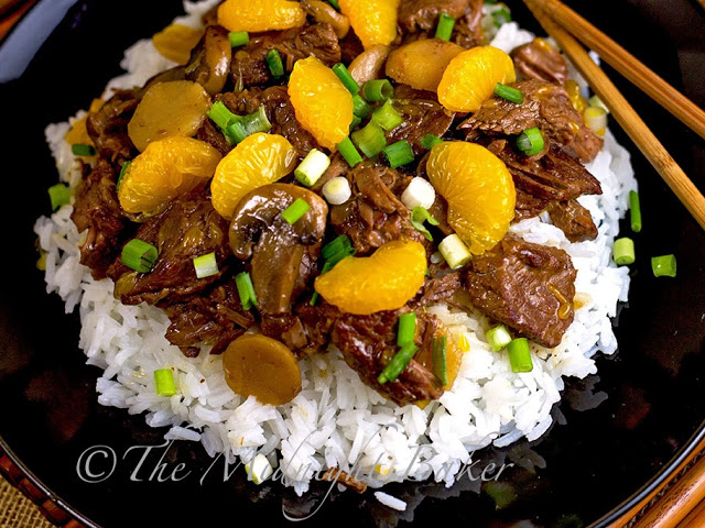 Ginger Beef with Mandarin Oranges #SlowCooker #CrockPot #AsianGingerBeef