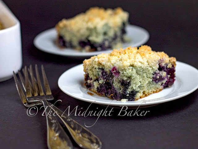 Blueberry Lemon Crumb Caker #CoffeeCakes #blueberries #cakes