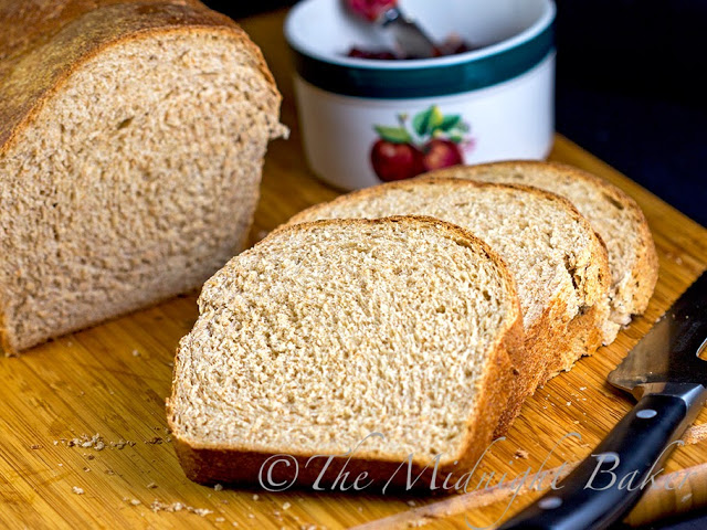 Honey Wheat Bread #YeastBreads #WholeGrain Breads #BreadRecipes