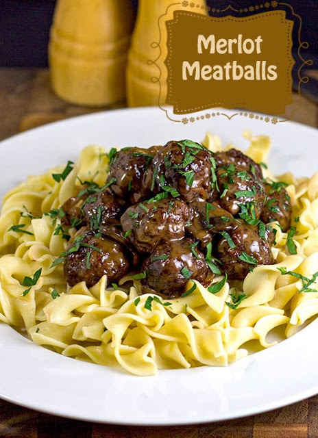 Merlot Meatballs | bakeatmidnite.com | #RiceCooker #One-dish-meals #meatballs