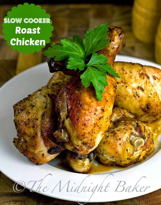 Slow Cooker Roasted Drumsticks #SlowCooker #CrockPot #SlowCookerRoastChickenRecipe #RotisserieChicken