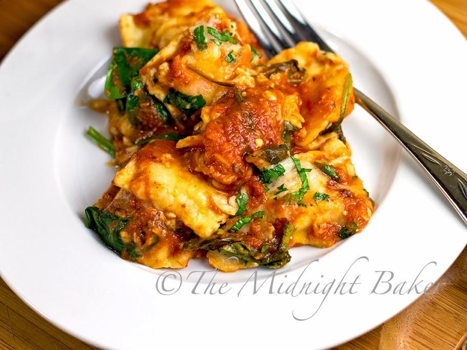 Ravioli Lasagna #RavioliLasagnaRecipe #QuickItalianFood #ravioli #VegetarianLasagna